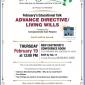 February's Educational Talk: Advance Directive/Living Wills