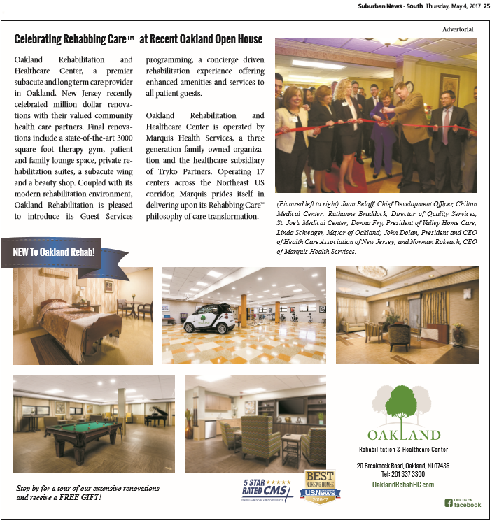 Oakland Rehabilitation Healthcare Center Featured In