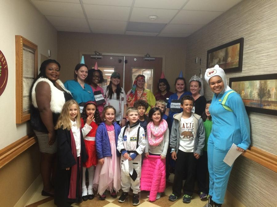 Preschoolers Celebrate Halloween with Residents here at Briarwood