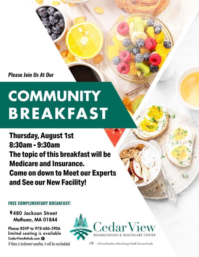 Upcoming Event: Community Breakfast - Cedar View ...