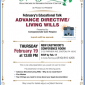 February's Educational Talk: Advance Directive/Living Wills