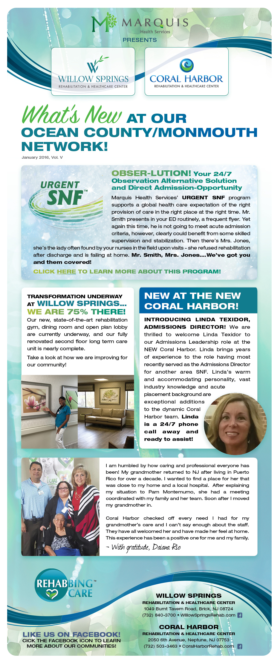 Marquis Health Services Newsletter