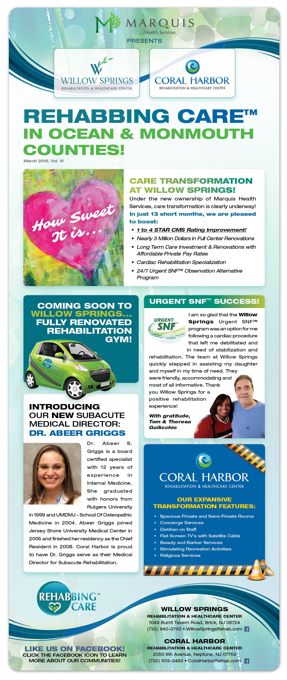 Willow Springs - Coral Harbor Newsletter